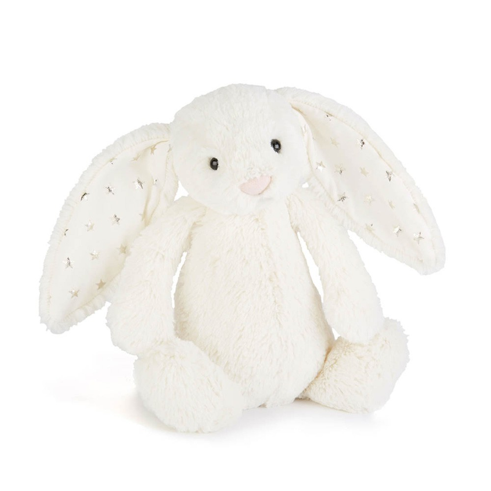 Jellycat Cream and Gold Star Bashful Bunny Soft Toy-product