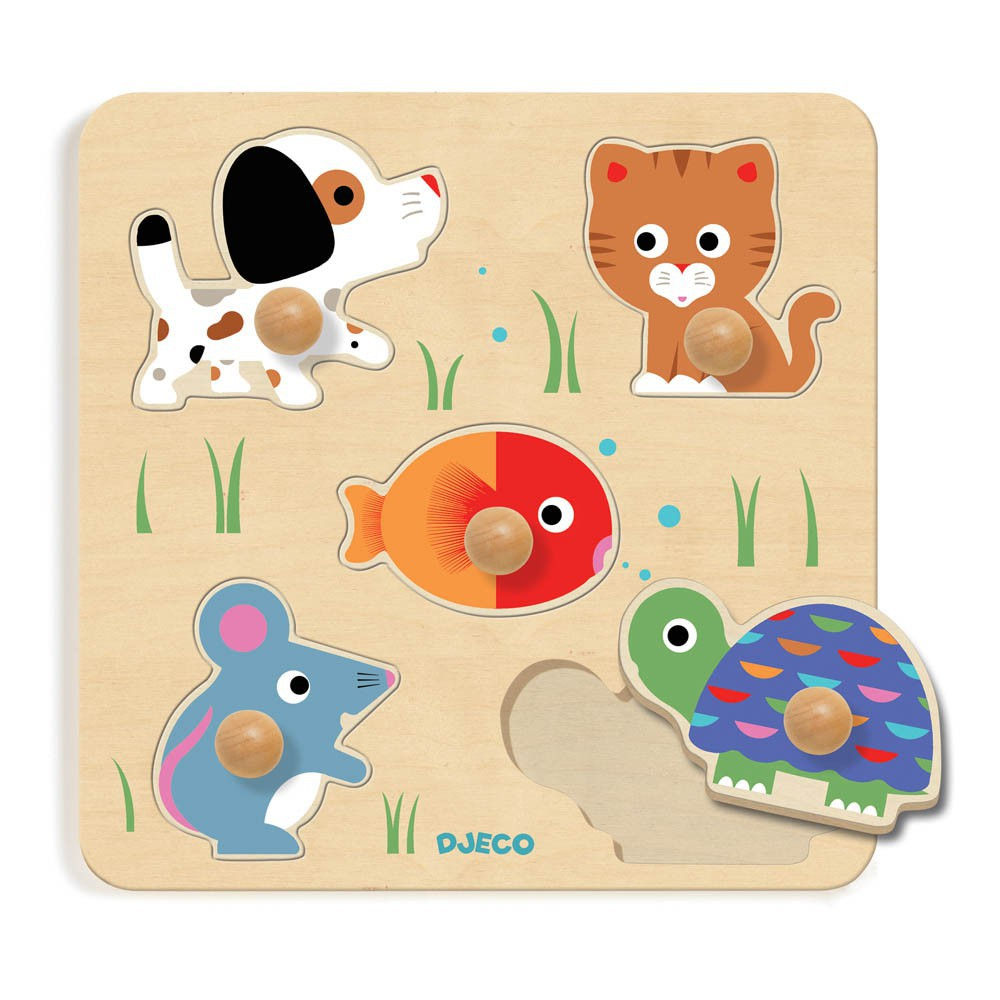 Djeco Puzzle botones gruesos -product