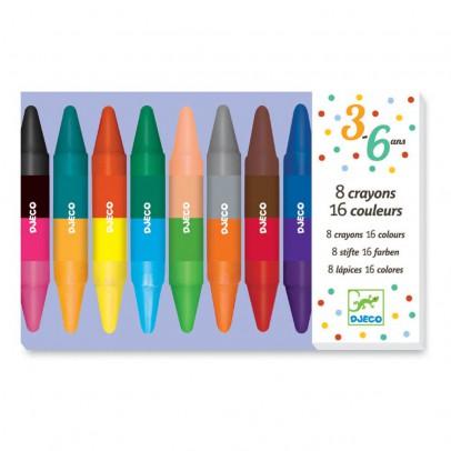 Djeco 8 lápices dobles cara-listing