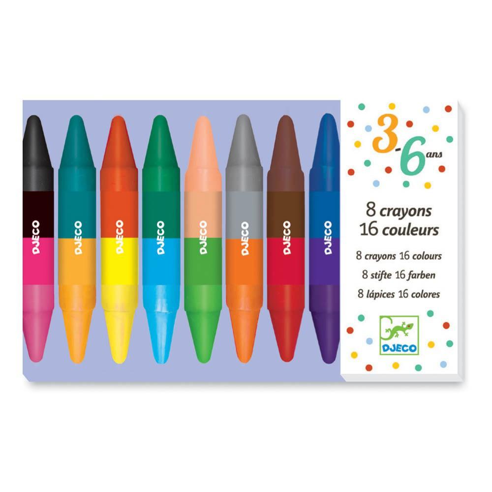 Djeco 8 lápices dobles cara-product
