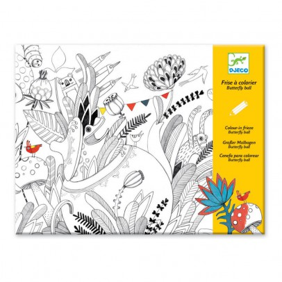 Djeco Friso para colorear Butterfly ball-product