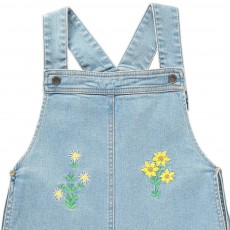 Stella McCartney Kids Edith Embroidered Floral Dungaree Shorts-listing