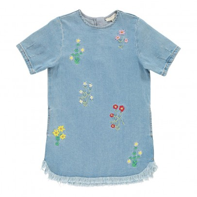 Stella McCartney Kids Bess Embroidered Floral Dress-listing