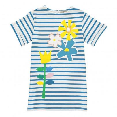 Stella McCartney Kids Robe Rayée Fleurs Isabella-listing