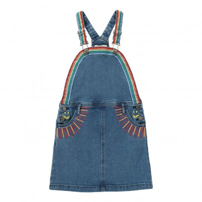 Stella McCartney Kids Sunflower Embroidered Dungaree Dress-listing