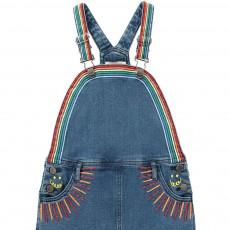 Stella McCartney Kids Vestido Peto Detalles Bordados Sunflower-listing