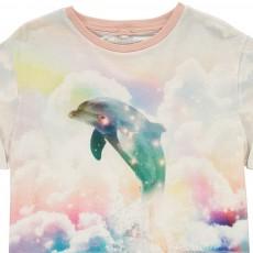 Stella McCartney Kids Plum Dolphin Cropped T-Shirt-listing