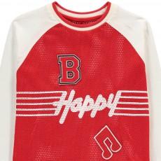 """Stella McCartney Kids T-Shirt Bi-matières """"Happy"""" Max-listing"""
