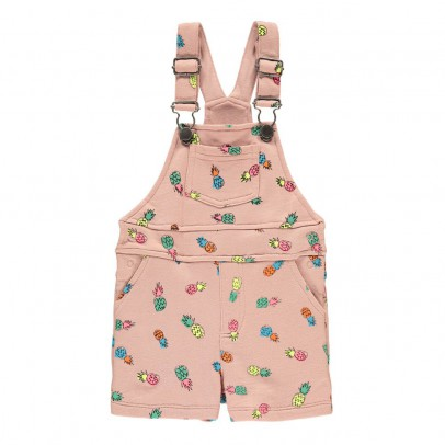 Stella McCartney Kids Pookie Pineapple Dungaree Shorts-listing