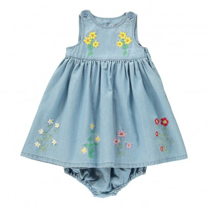Stella McCartney Kids Vestido Flores Bordadas + Bloomer Posie-listing