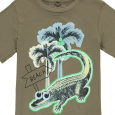 Stella McCartney Kids Arrow Palm Tree Crocodile T-Shirt-listing