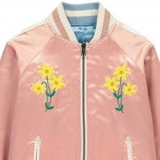 Stella McCartney Kids Willow Embroidered Floral Reversible College Jacket-listing