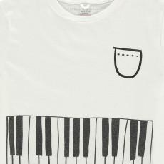 Stella McCartney Kids T-Shirt Cropped Piano Plum-listing