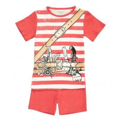 Stella McCartney Kids Louie Striped Adventurer Pyjama T-Shirt + Shorts-listing