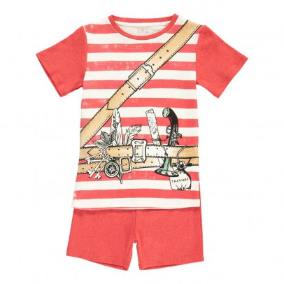 Stella McCartney Kids Pyjama T-Shirt Rayé Aventurier + Short Louie-listing