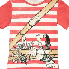 Stella McCartney Kids Pyjama T-Shirt Rayé Aventurier + Short Louie-listing