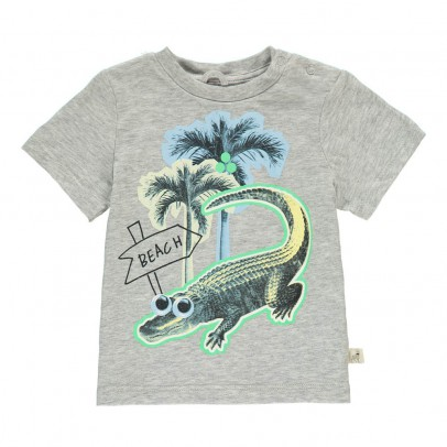 Stella McCartney Kids Chuckle Palm Tree Crocodile T-Shirt-listing