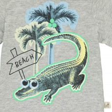 Stella McCartney Kids Camiseta Cocodrilo Palmeras Chuckle-listing