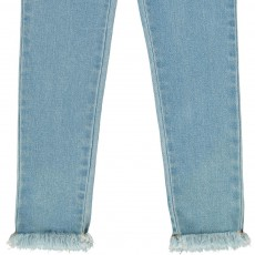 Stella McCartney Kids Nina Embroidered Flower Detail Skinny Jeans-listing