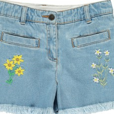 Stella McCartney Kids Short Fleurs Brodées Marlin-listing