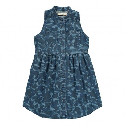 Stella McCartney Kids Capucine Camouflage Chambray Dress-listing