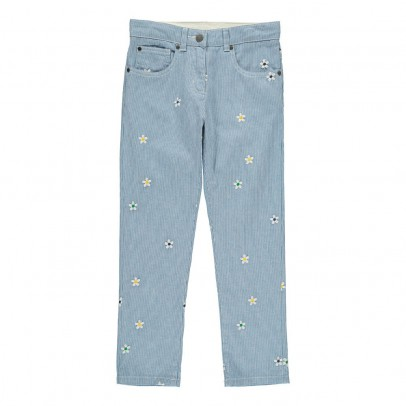 Stella McCartney Kids Lohan Embroidered Flower Trousers-listing