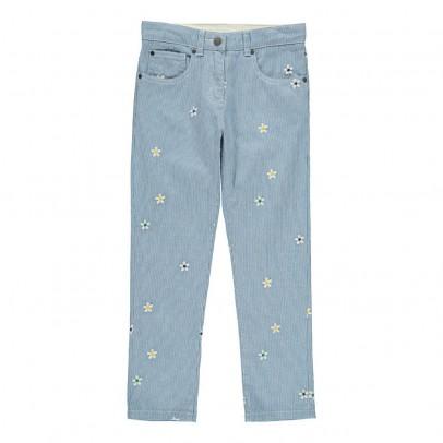 Stella McCartney Kids Pantalon Rayé Fleurs Brodées Lohan-listing