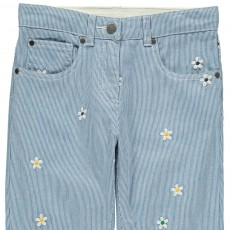 Stella McCartney Kids Pantalón Rayas Flores Bordadas Lohan-listing
