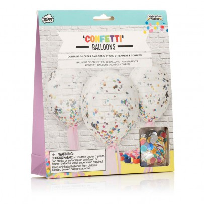 Smallable Toys Ballons avec confettis - Set de 20-listing