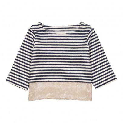 MAX & LOLA Gestreiftes T-Shirt mit Pailletten Malis -listing