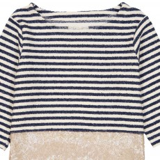MAX & LOLA Malis Sequin Striped T-Shirt-listing