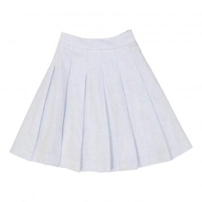 MAX & LOLA Saplit Linen and Cotton Midi Skirt-listing