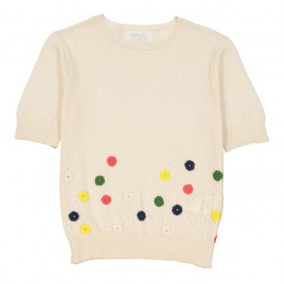 MAX & LOLA Pijour Embroidered Short Sleeve Jumper-listing