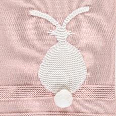Stella McCartney Kids Couverture Coton et Cachemire Lapins Snowball-listing