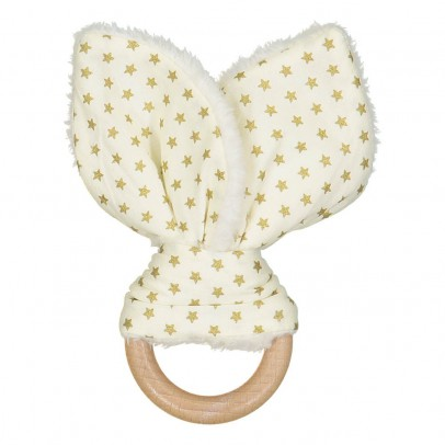 Les Juliettes Bunny Ears Teething Rattle-listing