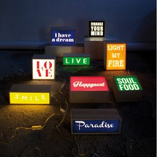 Seletti hange Your Mind/Love/Soul Food Light Box-listing