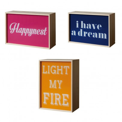 Seletti Light box Light my fire/ I have a dream/ Happynest	-listing