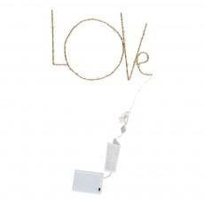 Zoé Rumeau Nachtlampe LED Love Zoé Rumeau x Smallable- Gold -listing