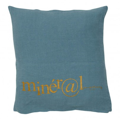 Bed and philosophy Washed Linen Embellished Cushion 35x35cm-listing