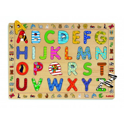 Djeco Puzzle en bois lettres-listing