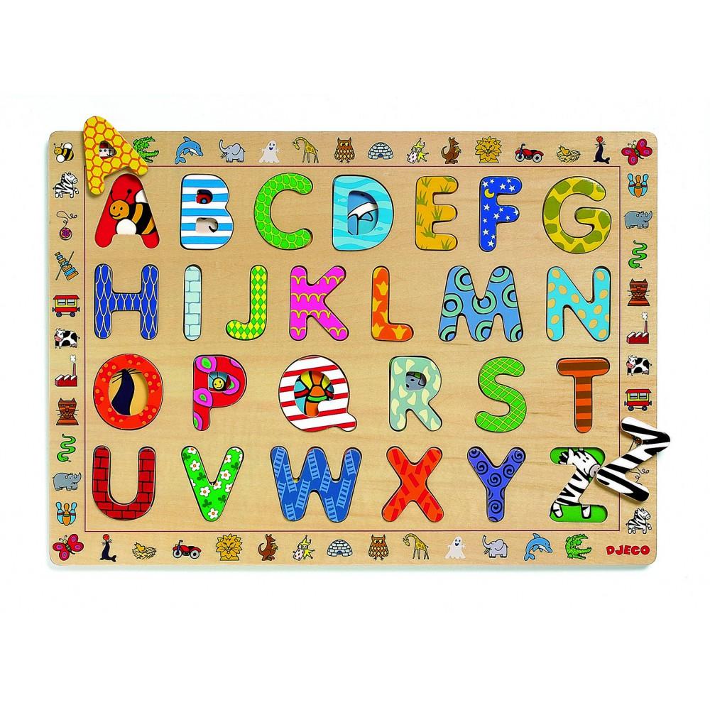 Puzzle de madera letras-product
