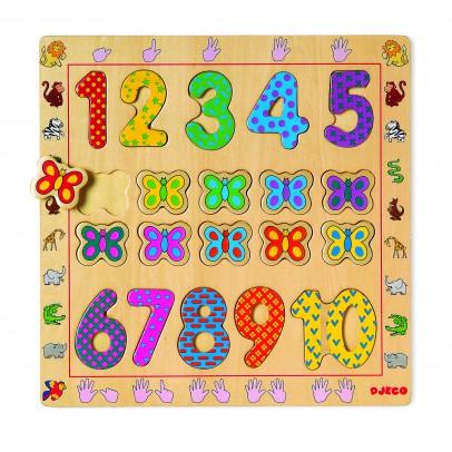 Djeco Puzzle en bois chiffres-listing