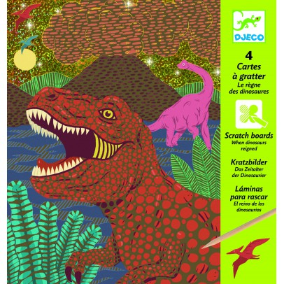 Djeco Dinosaur Queen Scratch Card-product