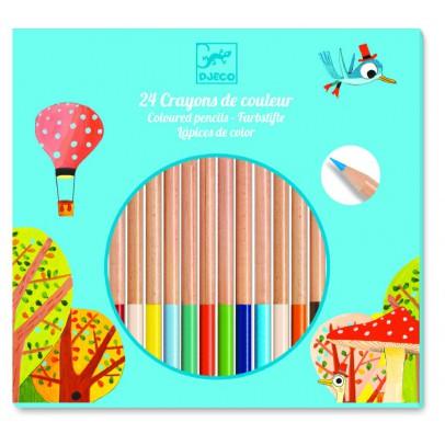 Djeco 24 crayons de couleurs-listing