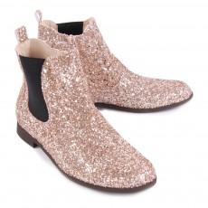 Manuela de Juan  Boots Chelsea Zippées Paillettes Constance-listing