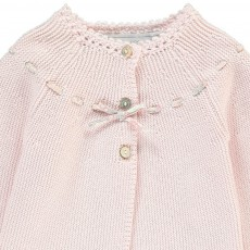 Tartine et Chocolat Liberty Bow Pima Cotton Cardigan-listing