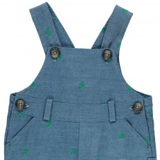 Tartine et Chocolat Cactus Embroidered Chambray Dungarees-listing