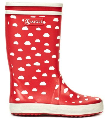 Aigle Lolly Pop Cloud Print Rain Boots-listing