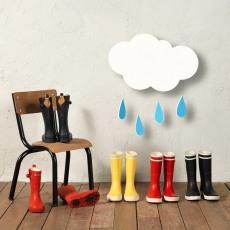 Aigle Botas de Agua Nubes Lolly Pop Print-listing