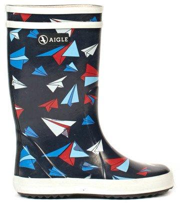 Aigle Lolly Pop Kid Airplane Rain Boots-listing